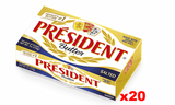 President Imported SALTED Butter (CASE) (20 x 7 oz) - Parthenon Foods