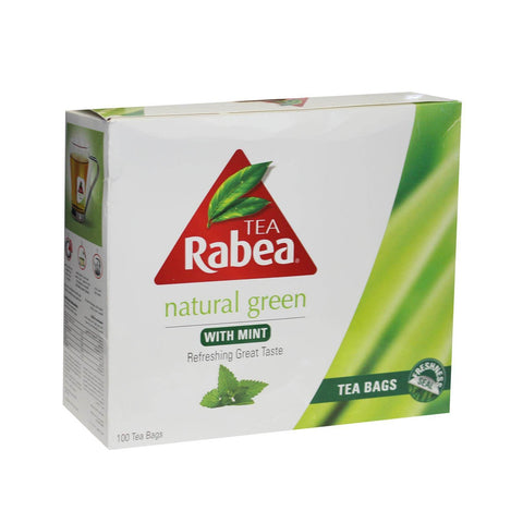 Green Tea with Mint (Rabea) (100 tea bags) 180g - Parthenon Foods