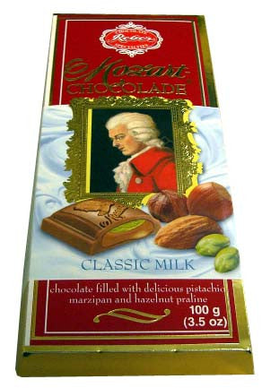 Reber Mozart Chocolate, Classic Milk, 100g - Parthenon Foods