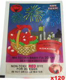 Egg Dye, Red, CASE (120 pack) - Parthenon Foods