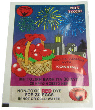 Egg Dye, Red - Parthenon Foods