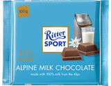 Ritter Sport Alpine Milk Chocolate, 100g - Parthenon Foods