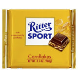 Ritter Sport Milk Chocolate with Corn Flakes, 100g - Parthenon Foods