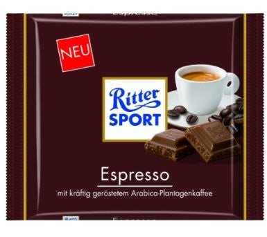 Ritter Sport Chocolate with Espresso, 100g - Parthenon Foods