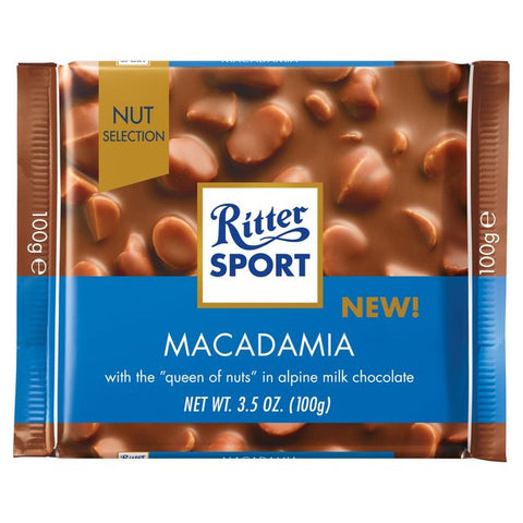 Ritter Sport Milk Chocolate with Macadamia, 100g - Parthenon Foods