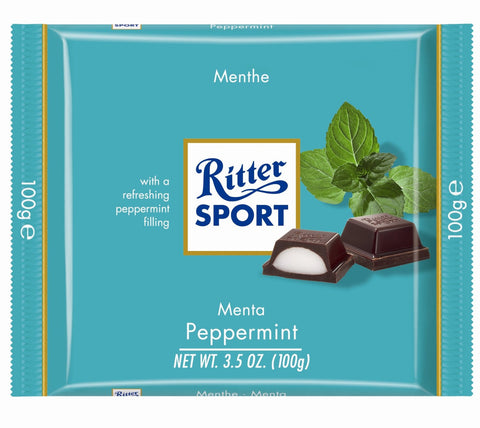 Ritter Sport Peppermint Chocolate, 100g - Parthenon Foods