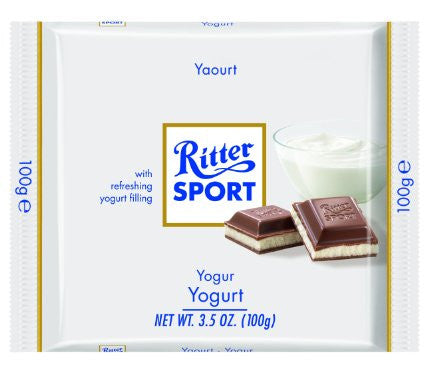 Ritter Sport Milk Chocolate with Yogurt, 100g - Parthenon Foods