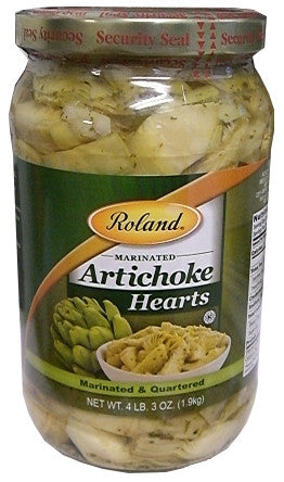 Marinated Artichoke Hearts (Roland) 67oz (1.9kg) - Parthenon Foods