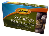 Smoked Baby Clams (Roland) 3 oz (85g) - Parthenon Foods