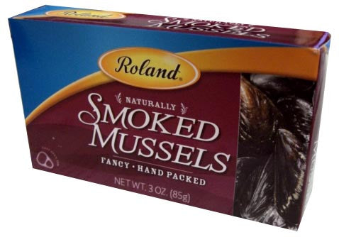 Smoked Mussels (Roland) 3 oz (85g) - Parthenon Foods