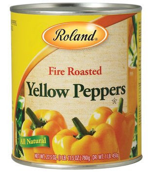 Fire Roasted Yellow Peppers (Roland) 28 oz (793g) - Parthenon Foods