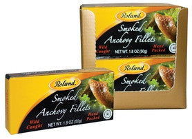 Smoked Anchovy Fillets (Roland) 1.8 oz (50g) - Parthenon Foods