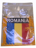 Romanian Flag with String and Suction Cup, 4x6 in. - Parthenon Foods