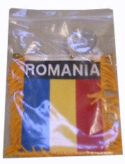 Romanian Flag with String and Suction Cap, 4x6 in. - Parthenon Foods