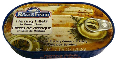 Herring Fillets in Mustard Sauce (RugenFisch) 200g - Parthenon Foods