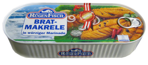 Fried Mackerel Fillets in Spicy Marinade (RugenFisch) 500g - Parthenon Foods