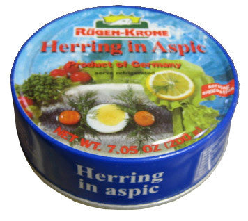 Herring in Aspic (Rugen-Krone) 7.05 oz (200g) - Parthenon Foods