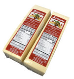 Saganaki/Kefalotiri Cheese CASE, approx. (2 x 5.75 lb pcs) approx.  11.5 lbs total - Parthenon Foods