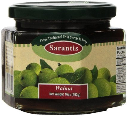 Green Walnut Preserve (Sarantis) 16oz (453g) - Parthenon Foods