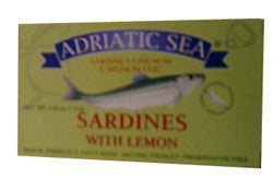 Sardines with Lemon, Adriatic Sea, 115g - Parthenon Foods