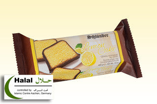 Lemon Cake, Chocolate Covered (Schlunder) 400g - Parthenon Foods