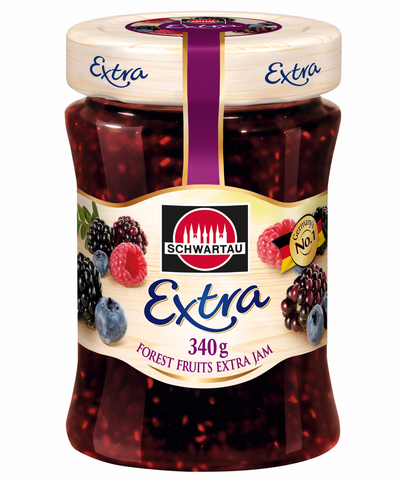 Schwartau Extra Forest Fruits, 12oz(340g) - Parthenon Foods