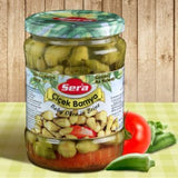 Okra in Brine (Sera) 19.4 oz (550 g) - Parthenon Foods  - 1