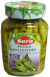 Pickled HOT Peppers (Sera) 11.3 oz (320g)-720ml - Parthenon Foods