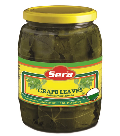 Organic Grape Leaves (Sera) 2 lb jar, DR.WT. 16oz - Parthenon Foods