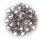 Decorative Silver Dragees, Triangle, approx. 1.3oz - Parthenon Foods