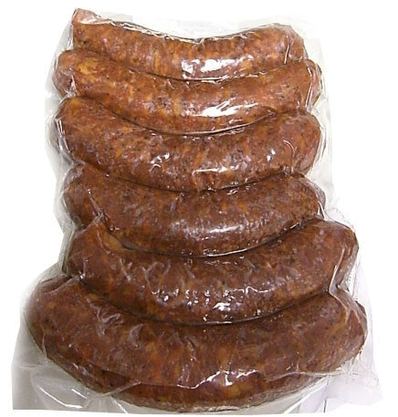 Smoked Pork Hungarian Sausage, Spicy, approx. 6 links, 1.6-1.8 lbs - Parthenon Foods