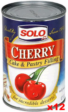 Solo Cherry Filling CASE (12 x 12oz) - Parthenon Foods