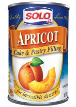 Solo Apricot Filling, 12 oz (340g) - Parthenon Foods