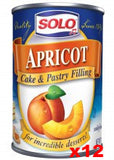 Solo Apricot Filling CASE (12 x 12 oz) BBD MAR.2017 - Parthenon Foods