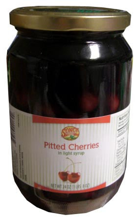 Pitted Cherries in Light Syrup (Sonce) 24oz - Parthenon Foods