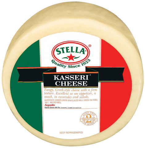 Kasseri Cheese (Stella) Wheel, Approx. 11.5 lb - Parthenon Foods