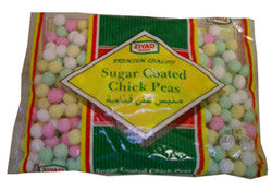 Sugar Coated Chick Peas, Colored, 14 oz - Parthenon Foods