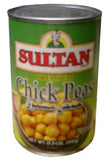 Chick Peas, Boiled Garbanzo Beans (Sultan) 15.5oz - Parthenon Foods