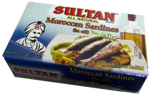 Moroccan Sardines in Oil (Sultan) 125g - Parthenon Foods