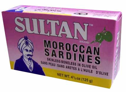 Moroccan Sardines, Skinless-Boneless in Olive oil (Sultan) 125g - Parthenon Foods