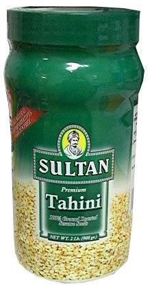 Tahini, Ground Sesame Seeds (Sultan) 2 lb (908g) - Parthenon Foods
