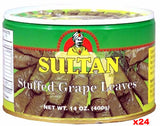 Stuffed Grape Leaves (Sultan) CASE (24 x 400g) - Parthenon Foods