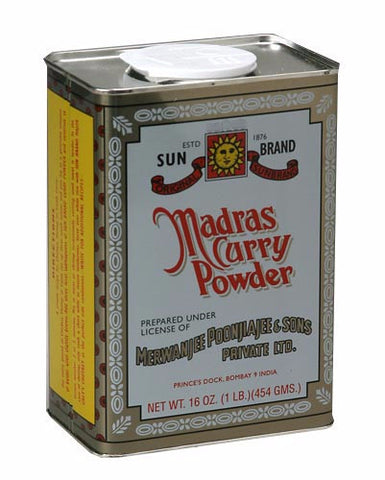 Madras Curry Powder (SunBrand) 16oz (454g) - Parthenon Foods