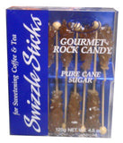 Gourmet Rock Candy Swizzle Sticks, Amber (DP) 125g (4.5oz) - Parthenon Foods