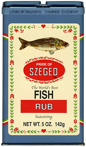 Fish Rub Seasoning (szeged) 5oz (142g) - Parthenon Foods