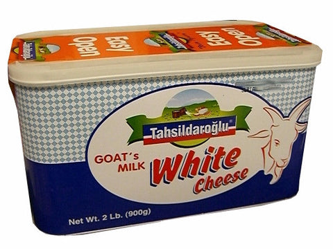White Cheese, Goat's Milk (Tahsildaroglu) 900g, Blue Tin - Parthenon Foods