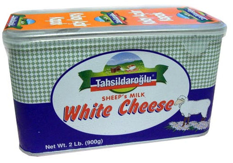 White Cheese, Sheeps Milk (Tahsildaroglu) 900g, Green Tin - Parthenon Foods