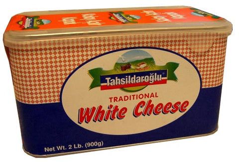 Tahsildaroglu White Traditional Cheese 900g tin, red - Parthenon Foods
