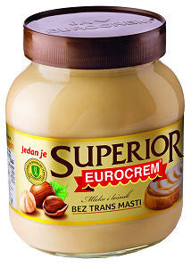 Eurocrem SUPERIOR WHITE Hazelnut Spread, 750g - Parthenon Foods