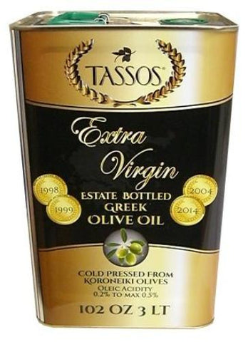 Extra Virgin Greek Olive Oil (Tassos) 3L - Parthenon Foods  - 1